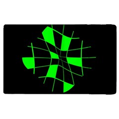 Green abstract flower Apple iPad 2 Flip Case