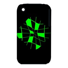 Green abstract flower Apple iPhone 3G/3GS Hardshell Case (PC+Silicone)