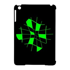 Green abstract flower Apple iPad Mini Hardshell Case (Compatible with Smart Cover)