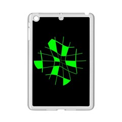 Green abstract flower iPad Mini 2 Enamel Coated Cases