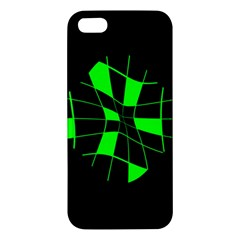 Green abstract flower Apple iPhone 5 Premium Hardshell Case