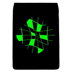 Green abstract flower Flap Covers (L)