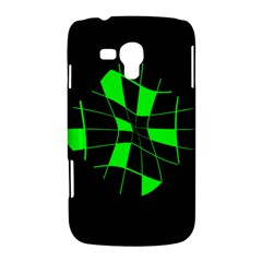 Green abstract flower Samsung Galaxy Duos I8262 Hardshell Case