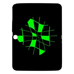 Green abstract flower Samsung Galaxy Tab 3 (10.1 ) P5200 Hardshell Case