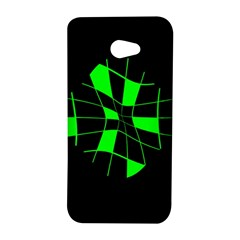 Green abstract flower HTC Butterfly S/HTC 9060 Hardshell Case