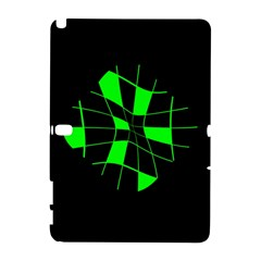 Green abstract flower Samsung Galaxy Note 10.1 (P600) Hardshell Case