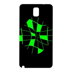 Green abstract flower Samsung Galaxy Note 3 N9005 Hardshell Back Case