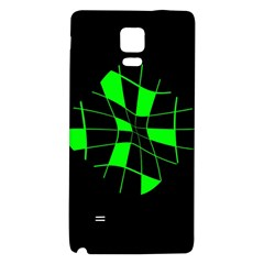 Green abstract flower Galaxy Note 4 Back Case