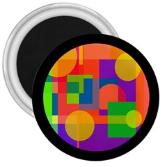 Colorful circle  3  Magnets