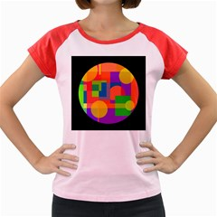 Colorful circle  Women s Cap Sleeve T-Shirt