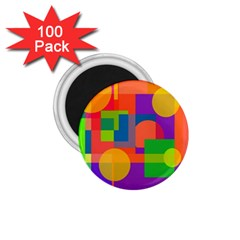 Colorful circle  1.75  Magnets (100 pack)