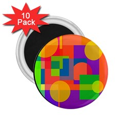 Colorful circle  2.25  Magnets (10 pack)