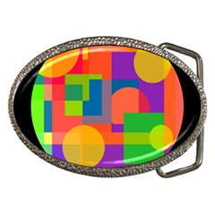 Colorful circle  Belt Buckles