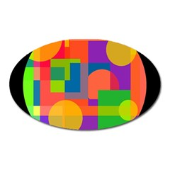 Colorful circle  Oval Magnet
