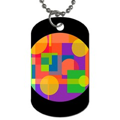 Colorful circle  Dog Tag (One Side)