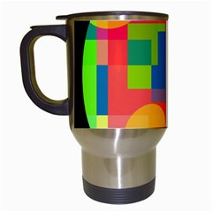 Colorful circle  Travel Mugs (White)