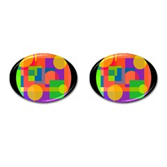 Colorful circle  Cufflinks (Oval)