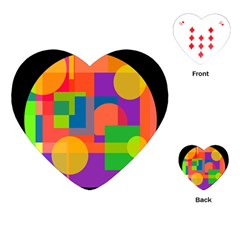 Colorful circle  Playing Cards (Heart)