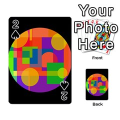 Colorful circle  Playing Cards 54 Designs