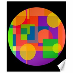 Colorful circle  Canvas 8  x 10