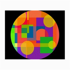Colorful circle  Small Glasses Cloth (2-Side)