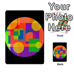 Colorful circle  Multi-purpose Cards (Rectangle)