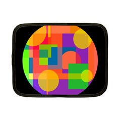 Colorful circle  Netbook Case (Small)