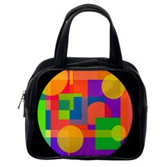 Colorful circle  Classic Handbags (One Side)