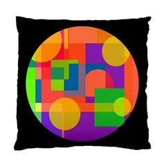 Colorful circle  Standard Cushion Case (One Side)