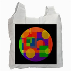Colorful circle  Recycle Bag (One Side)