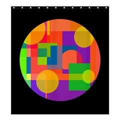 Colorful circle  Shower Curtain 66  x 72  (Large)
