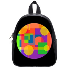 Colorful circle  School Bags (Small)