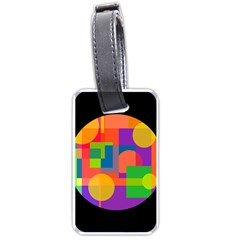 Colorful circle  Luggage Tags (One Side)
