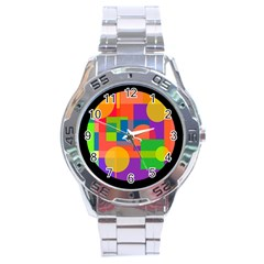 Colorful circle  Stainless Steel Analogue Watch