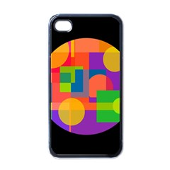Colorful circle  Apple iPhone 4 Case (Black)