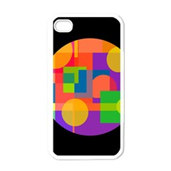 Colorful circle  Apple iPhone 4 Case (White)