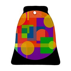 Colorful circle  Bell Ornament (2 Sides)