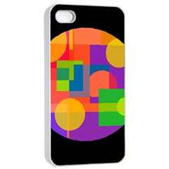 Colorful circle  Apple iPhone 4/4s Seamless Case (White)