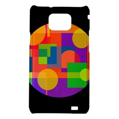 Colorful circle  Samsung Galaxy S2 i9100 Hardshell Case