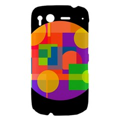 Colorful circle  HTC Desire S Hardshell Case
