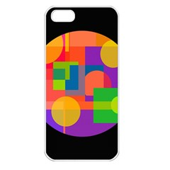 Colorful circle  Apple iPhone 5 Seamless Case (White)