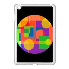 Colorful circle  Apple iPad Mini Case (White)