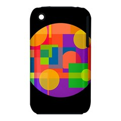 Colorful circle  Apple iPhone 3G/3GS Hardshell Case (PC+Silicone)