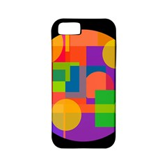 Colorful circle  Apple iPhone 5 Classic Hardshell Case (PC+Silicone)