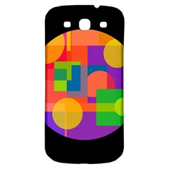 Colorful circle  Samsung Galaxy S3 S III Classic Hardshell Back Case