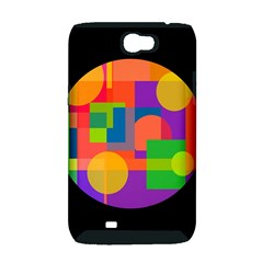 Colorful circle  Samsung Galaxy Note 2 Hardshell Case (PC+Silicone)