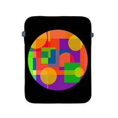 Colorful circle  Apple iPad 2/3/4 Protective Soft Cases
