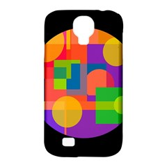 Colorful circle  Samsung Galaxy S4 Classic Hardshell Case (PC+Silicone)