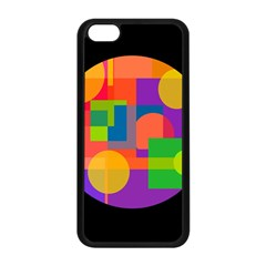 Colorful circle  Apple iPhone 5C Seamless Case (Black)