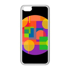Colorful circle  Apple iPhone 5C Seamless Case (White)